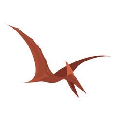 Pterodactyl bird on white background vector