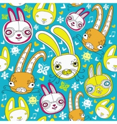 rabbit background vector image