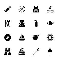 sea marine glyph pack vector image