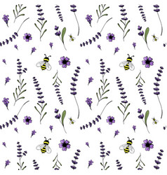 seamless pattern lavender theme of provence vector image