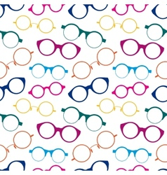 Seamless pattern with colorful retro glasses vector
