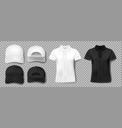 set sports wear template black and white vector image