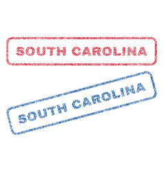 South carolina textile stamps vector