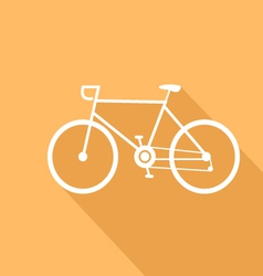 Sport bike of a flat design vector