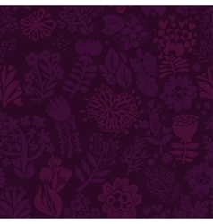 Stylish floral seamless background Vintage vector image