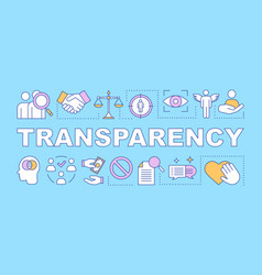 transparency word concepts banner vector image