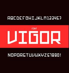 Vigor font alphabet vector