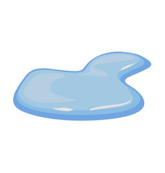 Water puddle iconcartoon icon vector