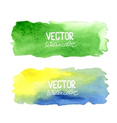 watercolor banners Abstract background vector image