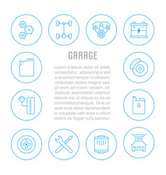 website banner and landing page garage vector image