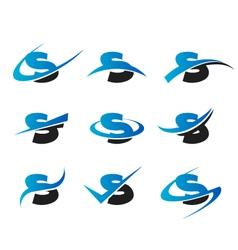 Alphabet S Logo Icons vector image vector image