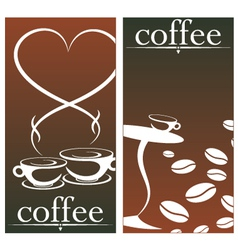 design for coffee shop vector image vector image