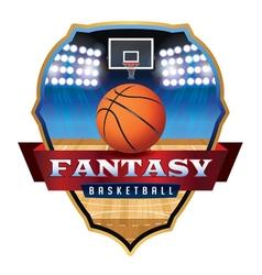 Fantasy Basketball Badge vector image vector image