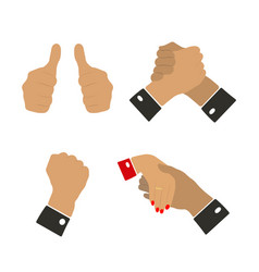 icons hand gestures vector image