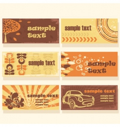 retro background cards vector image vector image