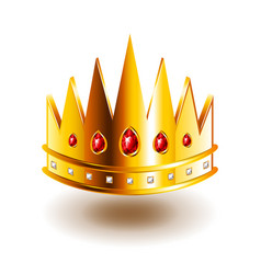 crown with sharp teeth isolated on white vector image vector image
