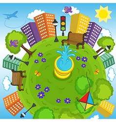 earth and environment vector image vector image