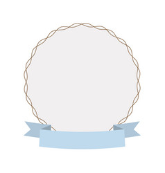 label round decoration ribbon vector image