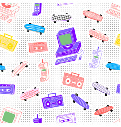 pattern sets 80s 90s background with dots vector image vector image