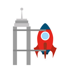 rocket space isolated icon vector image vector image