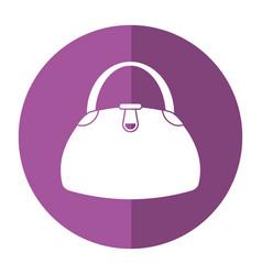 woman handbag fashion style shadow vector image