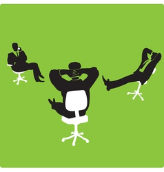 Businessmen in chairs vector image vector image