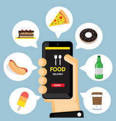 food app vector image