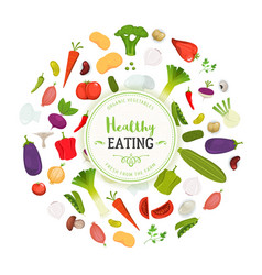 healthy eating and vegetables background vector image vector image