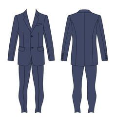 mans suit vector image