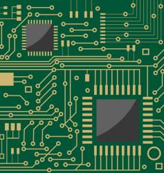 microcircuit vector image vector image