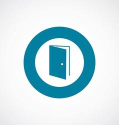 Open door icon bold blue circle border vector