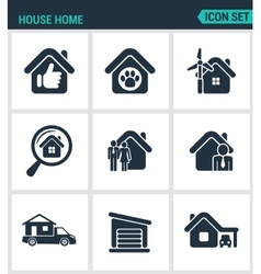Set of modern icons House home selling vector image vector image