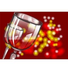 Christmas wine vector