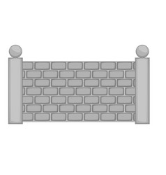concrete fence icon monochrome vector image