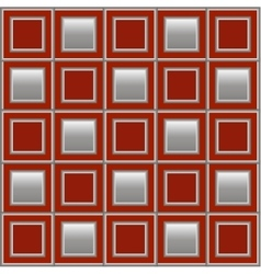 Geometric background with red and silver squares vector image vector image