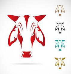 image of cow head vector image