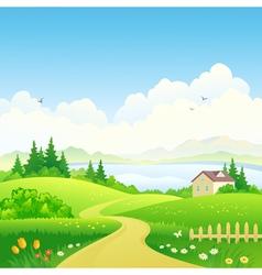 Rural path vector image vector image