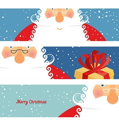 Set of cards Santa Claus Jolly good Christmas vector image
