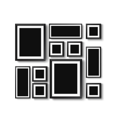 set of picture frames vector image