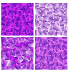 Set of purple polygonal background vector