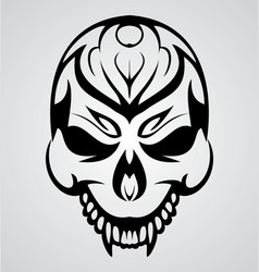 Tribal Skull vector image