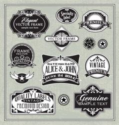 vintage labels frames design elements vector image vector image