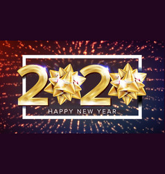 2020 happy new year holiday elegant poster vector