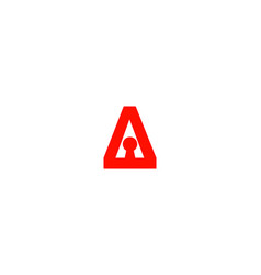 a letter key logo vector image