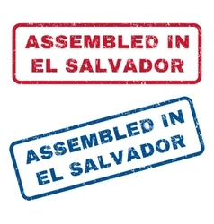 Assembled In El Salvador Rubber Stamps vector