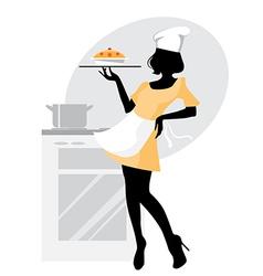 baker girl vector image
