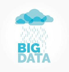 Big data cloud vector