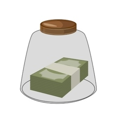 Bills money isolated icon vector