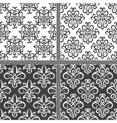 Black and white seamless ethnic pattern vector image