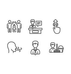 Businessman breathing exercise and partnership vector